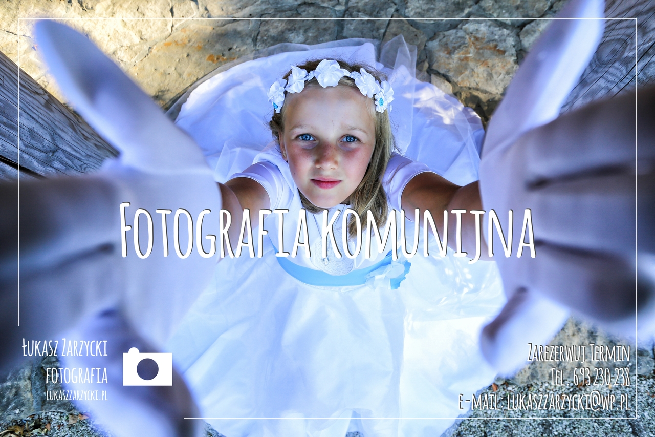 Fotografia rodzinna Kielce Świętokrzyskie - Sesja komunijna Gosi. Fot. Łukasz Zarzycki / lukaszzarzycki.pl