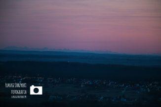 Widok na Tatry z zamku krolewskiego w Checinach