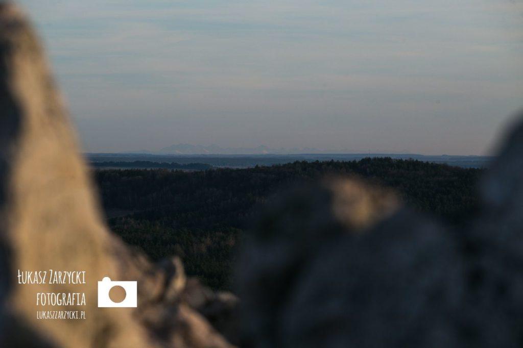 Gora i rezerwat przyrody Miedzianka - widok na Tatry